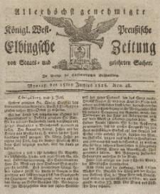 Elbingsche Zeitung, No. 48 Montag, 15 Juni 1818