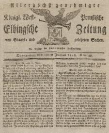 Elbingsche Zeitung, No. 49 Donnerstag, 18 Juni 1818