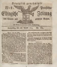 Elbingsche Zeitung, No. 62 Donnerstag, 5 August 1813