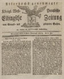 Elbingsche Zeitung, No. 50 Montag, 22 Juni 1818