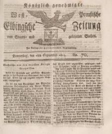 Elbingsche Zeitung, No. 70 Donnerstag, 2 September 1813
