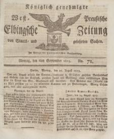 Elbingsche Zeitung, No. 71 Montag, 6 September 1813