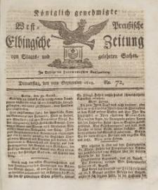 Elbingsche Zeitung, No. 72 Donnerstag, 9 September 1813
