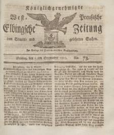 Elbingsche Zeitung, No. 73 Montag, 13 September 1813