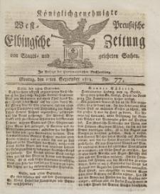 Elbingsche Zeitung, No. 77 Montag, 27 September 1813