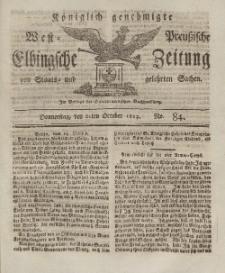 Elbingsche Zeitung, No. 84 Donnerstag, 21 Oktober 1813