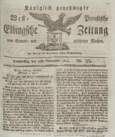 Elbingsche Zeitung, No. 88 Donnerstag, 4 November 1813