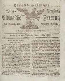 Elbingsche Zeitung, No. 89 Montag, 8 November 1813
