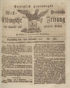 Elbingsche Zeitung, No. 92 Donnerstag, 18 November 1813