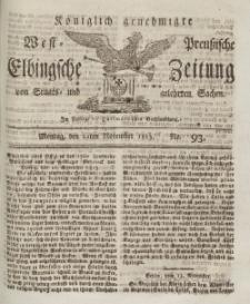 Elbingsche Zeitung, No. 93 Montag, November 1813