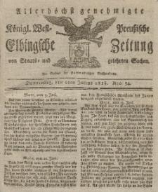 Elbingsche Zeitung, No. 54 Montag, 6 Juli 1818