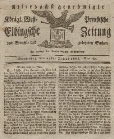 Elbingsche Zeitung, No. 59 Donnerstag, 23 Juli 1818
