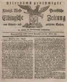 Elbingsche Zeitung, No. 65 Donnerstag, 13 August 1818
