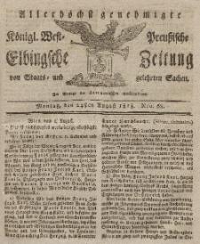 Elbingsche Zeitung, No. 68 Montag, 24 August 1818