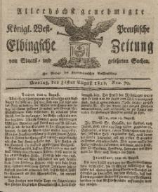 Elbingsche Zeitung, No. 70 Montag, 31 August 1819