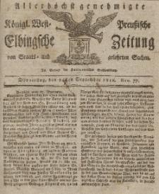 Elbingsche Zeitung, No. 77 Donnerstag, 24 September 1818