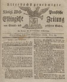 Elbingsche Zeitung, No. 89 Donnerstag, 5 November 1818
