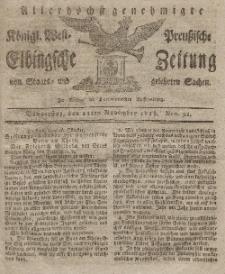 Elbingsche Zeitung, No. 91 Donnerstag, 12 November 1818