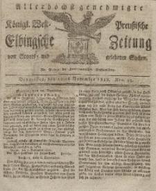 Elbingsche Zeitung, No. 93 Donnerstag, 19 November 1818