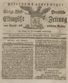 Elbingsche Zeitung, No. 103 Donnerstag, 24 Dezember 1818