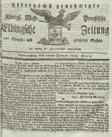 Elbingsche Zeitung, No. 6 Donnerstag, 21 Januar 1819