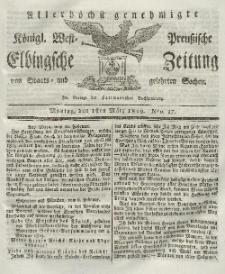 Elbingsche Zeitung, No. 17 Montag, 1 März 1819