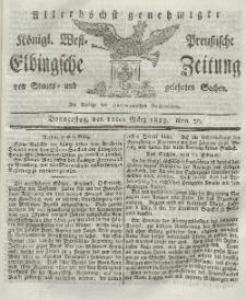 Elbingsche Zeitung, No. 20 Donnerstag, 11 März 1819