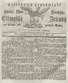 Elbingsche Zeitung, No. 21 Montag, 15 März 1819