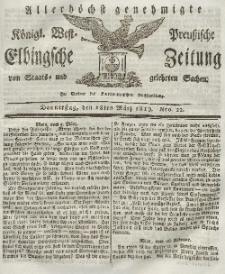Elbingsche Zeitung, No. 22 Donnerstag, 18 März 1819