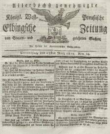 Elbingsche Zeitung, No. 24 Donnerstag, 25 März 1819