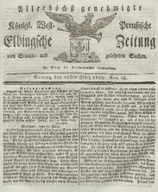 Elbingsche Zeitung, No. 25 Montag, 29 März 1819