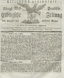 Elbingsche Zeitung, No. 26 Donnerstag, 1 April 1819