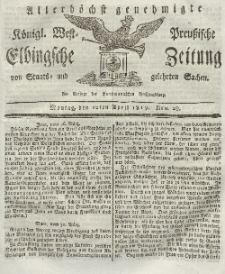 Elbingsche Zeitung, No. 29 Montag, 12 April 1819