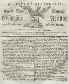 Elbingsche Zeitung, No. 30 Donnerstag, 15 April 1819
