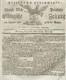 Elbingsche Zeitung, No. 45 Montag, 7 Juni 1819