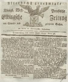 Elbingsche Zeitung, No. 46 Donnerstag, 10 Juni 1819