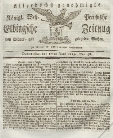 Elbingsche Zeitung, No. 48 Donnerstag, 17 Juni 1819