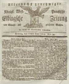 Elbingsche Zeitung, No. 49 Montag, 21 Juni 1819