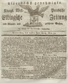 Elbingsche Zeitung, No. 50 Donnerstag, 24 Juni 1819