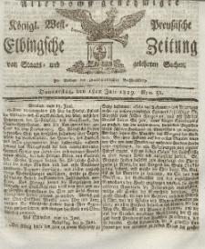 Elbingsche Zeitung, No. 52 Donnerstag, 1 Juli 1819