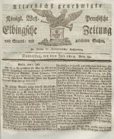 Elbingsche Zeitung, No. 54 Donnerstag, 8 Juli 1819