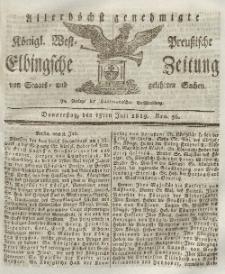 Elbingsche Zeitung, No. 56 Donnerstag, 15 Juli 1819
