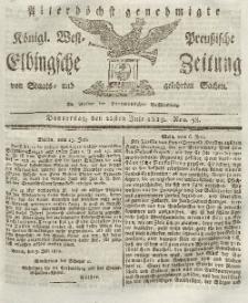 Elbingsche Zeitung, No. 58 Donnerstag, 22 Juli 1819