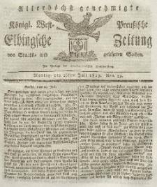 Elbingsche Zeitung, No. 59 Montag, 26 Juli 1819