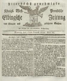 Elbingsche Zeitung, No. 65 Montag, 16 August 1819