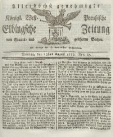 Elbingsche Zeitung, No. 67 Montag, 23 August 1819