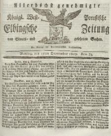 Elbingsche Zeitung, No. 73 Montag, 13 September 1819