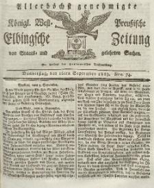 Elbingsche Zeitung, No. 74 Donnerstag, 16 September 1819