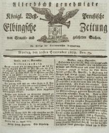 Elbingsche Zeitung, No. 75 Montag, 20 September 1819