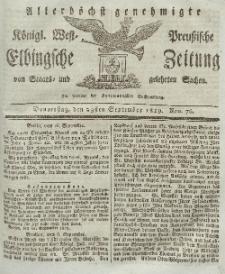 Elbingsche Zeitung, No. 76 Donnerstag, 23 September 1819